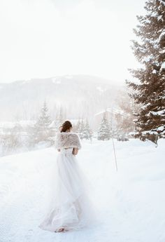 Are you getting married during one of the winter months? If so, you may be searching for inspiration for your wedding to ensure that it turns out as perfect as possible. There are some great winter wedding reception ideas to consider. These ideas could. Wedding Fur, Wedding Vows, Dream Wedding, Wedding Dresses, Wedding Stage, Gold Wedding, Winter Bride, Winter Wedding Snow, Wedding In The Snow