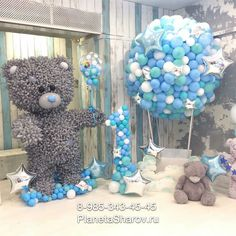 Fab baby girl's first birthday boy birthday part ideas Image may contain: 1 person Idee Baby Shower, Shower Bebe, Boy Baby Shower Themes, Baby Shower Balloons, Baby Shower Gender Reveal, Baby Boy Shower, Teddy Bear Baby Shower, Baby Girl First Birthday, Decoration Originale