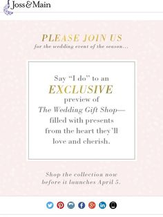 marriage material get early access to the wedding gift shop joss main