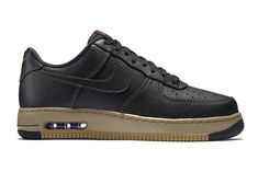 """Nike Air Force 1 Low """"Elite"""": Durable black leather with contrasting bronze stitching. New Sneakers, Sneakers Fashion, Baskets, New Trainers, Kicks Shoes, Nike Af1, Nike Air Force Ones, Clothes Horse, Adidas"""