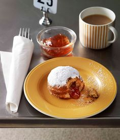 Quince and vanilla sufganiyot :: Gourmet Traveller Magazine Mobile