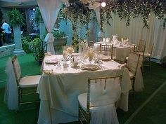 White chair bows by All Seasons Event Rental