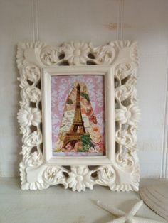 Creamy White Ornate Frame Shabby Chic White Ornate by NotJustSigns, $20.00