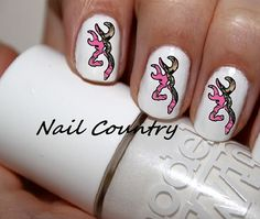 50pc Country Pink Camo Deer Nail Decals Nail Art Nail Stickers Best Price On Etsy NC11 on Etsy, $3.99