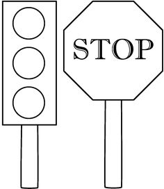 Stop Light Coloring Page Unique Traffic Light and Stop Sign Coloring Page Safety Preschool Lessons, Kindergarten Worksheets, Preschool Activities, Safety Crafts, Transportation Unit, Fall Coloring Pages, Coloring Sheets, Stop Light, Free Printable Coloring Pages