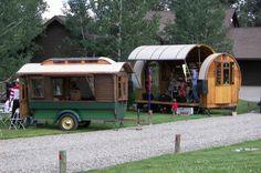 Gypsy wagon as a performance stage