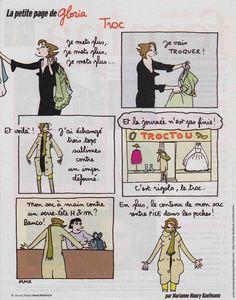 "BD - La petite page de Gloria ""Troc"""