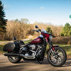Equipped for the open road. This custom 2018 doubles as a light tourer. Harley Davidson Buell, Harley Davidson Sport, Harley Davidson Museum, Harley Davidson Road Glide, Motorcycle Images, Motorcycle Tank, Road Glide Special, Harley Softail
