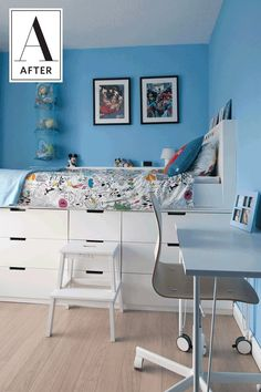 Before & After: An IKEA Hack Adds Style & Storage to a Kids Room | Apartment Therapy