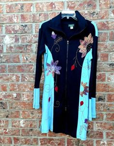 Kathmandu Embroidery Zip Up Front Stretch Imported Dress Boho Hippie Size Large | Clothing, Shoes & Accessories, Women's Clothing, Dresses | eBay!