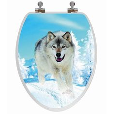 Snow Wolf 3D Image Toilet Seat - Elongated