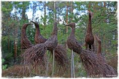 Bilderesultat for risuista tehtyä Garden Crafts, Garden Art, Savannah Gardens, Wattle Fence, Jardin Decor, Arte Quilling, Willow Weaving, Colorful Plants, Garden In The Woods