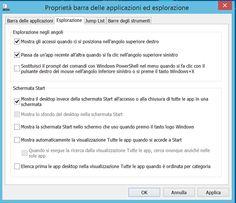 Windows 8: boot diretto al desktop Vediamo come impostare Windows per bypassare lo Start Screen e mostrare immediatamente il desktop all'avvio.