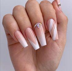 Grey Acrylic Nails, Cute Acrylic Nail Designs, Stylish Nails, Nail Inspo, Nails Inspiration, Pedicure, My Nails, Hair Makeup, Nail Art