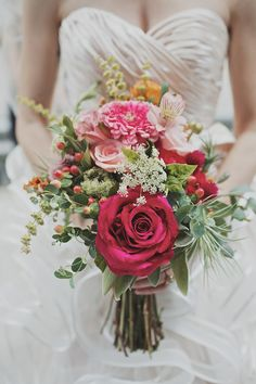 incredibly bouquet by @greenSinner floral & garden // photo by Hot Metal Studio http://ruffledblog.com/whimsical-pittsburgh-opera-wedding #bouquet #flowers