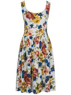 Tank dress with gathered skirt
