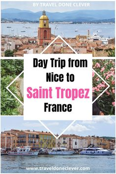 Would you love to fill your Saint-Tropez bucket list with a variety of adventures? This epic bucket list guide to St Tropez in France is everything you need! A travel guide with tons of information is perfect for first time visitors to Saint Tropez. #france #frenchriviera Places To Travel, Travel Destinations, Places To Visit, Europe Travel Guide, France Travel, St Tropez France, Best Of Italy, Countries To Visit, Saint Tropez