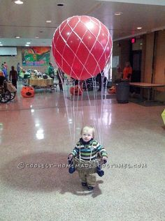 Cool Hot Air Balloon Halloween Costume for a Toddler... This website is the Pinterest of costumes