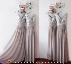 Grey Bridesmaid DressSexy Bridesmaid DressLong by FashionStreets