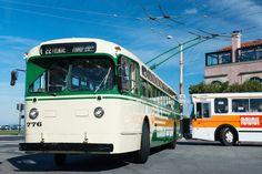 Nostalgia, Old Houses, Transportation, Tourism, San Francisco, Public, California, Train, Coaches