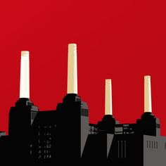 Jayson Lilley's amazing Battersea Power Station - red acrylic on canvas.