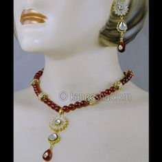 Goldplated cz Necklace and Earrings
