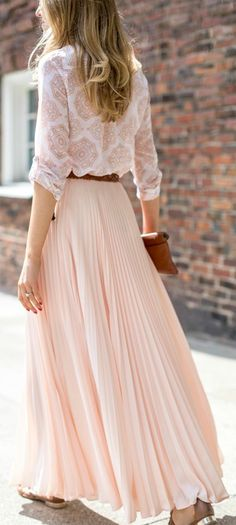 Pleated pink