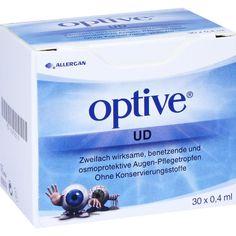 OPTIVE UD Augentropfen:   Packungsinhalt: 30X0.4 ml Augentropfen PZN: 02878215 Hersteller: ALLERGAN PHARM.IRELAND Preis: 12,75 EUR inkl.…
