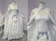 Fantasy gown, inspired by Princess Zda from the eponymous game series. By Firefly Path designs.