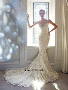 spanish wedding dresses | ... Mermaid Court Train Beads Spanish Lace Wedding Dresses 2014(ED-W186