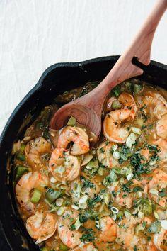 Recipe: Shrimp Etouffée — 5 Fall Soups and Stews from Nancie McDermott Cajun Recipes, Shrimp Recipes, Fish Recipes, Cooking Recipes, Creole Recipes, Cajun Food, Cajun Cooking, Yummy Recipes, Gastronomia