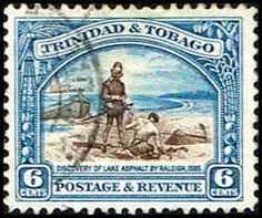 Trinidad & Tobago #37 Stamp  Discovery of Lake Asphalt Stamp