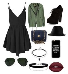 """""""Night on the town"""" by ella-rharper on Polyvore featuring Glamorous, Mr & Mrs Italy, New Look, Chanel, Ray-Ban, Casetify and Miss Selfridge"""