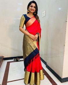Beautiful Saree, Beautiful Indian Actress, Kerala Saree, Saree Navel, Kurta Designs Women, Elegant Saree, Half Saree, Indian Beauty Saree, Indian Designer Wear