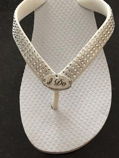 185f267a3f823 Items similar to WEDDING Flip Flops! I DO Bridal Shoes.