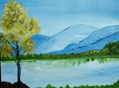 Landscape Paintings, Landscapes, Color Pencil Art, Watercolor Pencils, Learn To Paint, Drawing For Kids, Pencil Drawings, Colored Pencils, My Arts