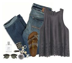 """""""keychain lit af"""" by brooklm ❤ liked on Polyvore featuring American Eagle Outfitters, MANGO, Birkenstock, Kate Spade, Tory Burch, Louis Vuitton, Ray-Ban and philosophy"""