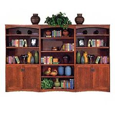 California Bungalow Bookcase Library Wall by kathy ireland Home by Martin at Reeds Furniture