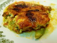 Zucchini lasagna... low carb and high protein!