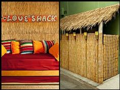 Bamboo reed fencing and solar tiki torches create a fun decor for this BAMBOO BEACH HUT vacation rental property in Marina del rey, CA Los Angeles Vacation, Outdoor Sofa, Outdoor Decor, Tiki Hut, Rental Property, Rental Apartments, Ideal Home, Condo, Interior Design