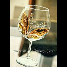 Painting on wine glass