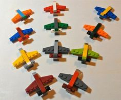 LEGO Mini Airplane Magnets Party Favors four per order Minifigures Lego, Lego Duplo, Manual Lego, Instructions Lego, Lego Jewelry, Lego Plane, Lego Challenge, Lego Activities, Lego Club