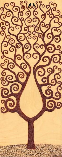 Wood burning..tree pattern-would make the coolest tattoo.