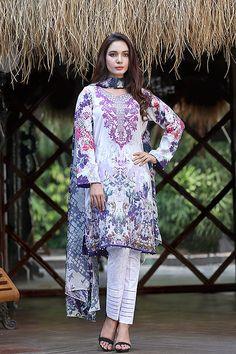 Saadia Asad Luxury pakithani Lawn Collection 13pc catalog