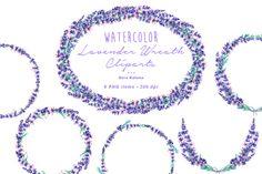 Lavender Wreath Cliparts @creativework247
