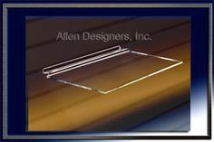 Slatwall Acrylic Accessories - 6 inch x 12 inch Molded Acrylic Shelf For Slatwall