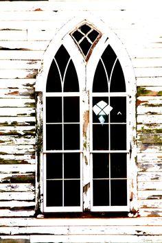 Old church window. Church Windows, Old Windows, Windows And Doors, Gothic Windows, Abandoned Churches, Old Churches, Old Country Churches, Take Me To Church, Church Building