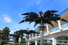Tomorrowland details- metal palm trees awesome!