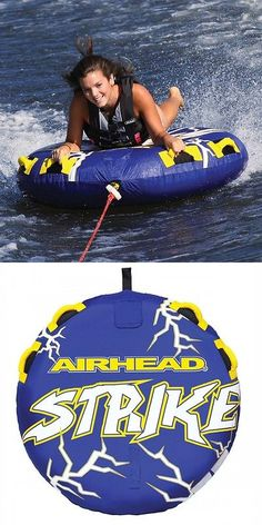 Tubing and Towables 71169: Airhead Strike 54 Inflatable Water Tube 1 Single Rider Boat Tow Towable Ahst-23 BUY IT NOW ONLY: $73.97