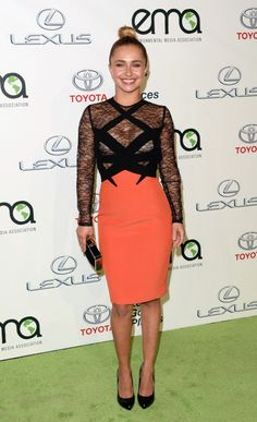 Fabulously Spotted: Hayden Panettiere Wearing Georges Hobeika - 23rd Annual Environmental Media Awards  - http://www.becauseiamfabulous.com/2013/10/fabulously-spotted-hayden-panettiere-wearing-georges-hobeika-23rd-annual-environmental-media-awards/